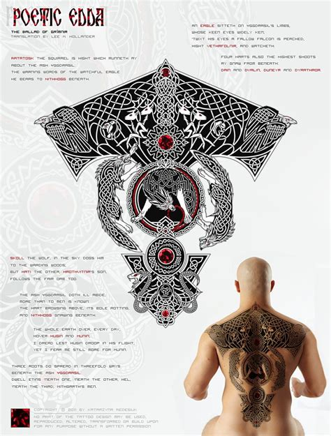 asatru tattoos yggdrasil poetic edda asatru the