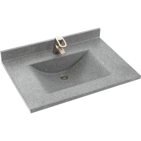 Solid Surface Vanity Top With Sink by Swan Contour 37 In W X 22 In D Solid Surface Vanity Top