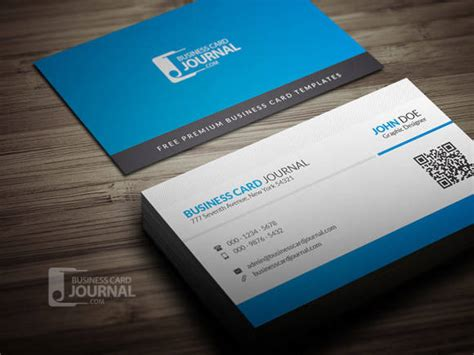 qr code business card template 40 best free psd business card templates webprecis