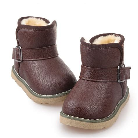 2015 brand children leather ankle boots snow boots