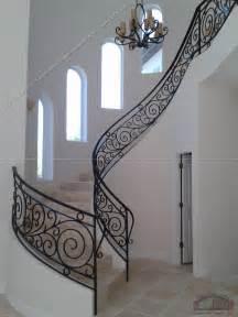 rot iron banister wrought iron stair railing 3