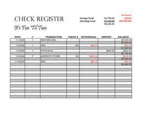 excel check register template free excel checkbook register printable 28 images