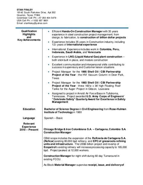 resume sl slfraley resumeex 2015