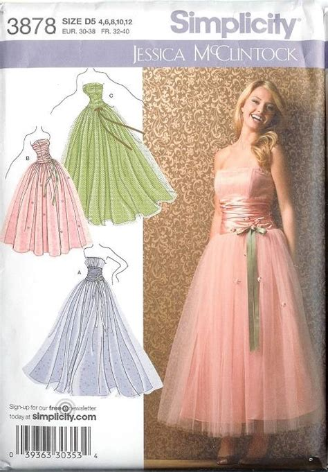 sewing pattern evening gown simplicity sewing pattern bridal evening gown bridesmaid
