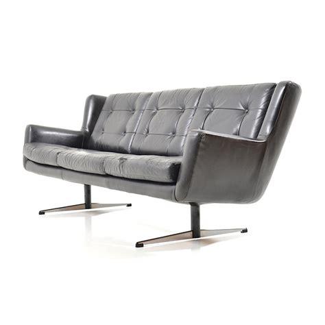 shaker sofa early danish leather shaker sofa by skjold s 248 rensen 1960s