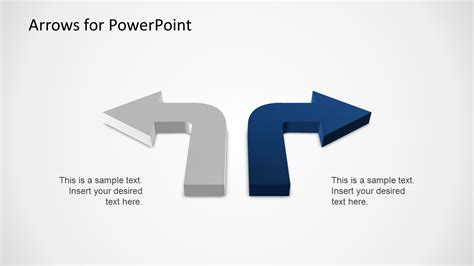 3d Arrows Powerpoint Template Slidemodel Arrow Powerpoint Template