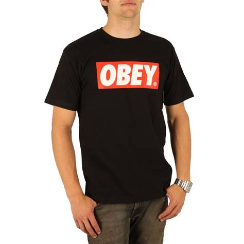 Tshirt Obey Name obey clothing bar logo t shirt evo outlet