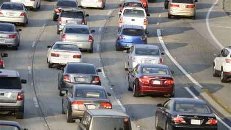 truck jam los angeles traffic jam on freeway usa downtown los angeles la