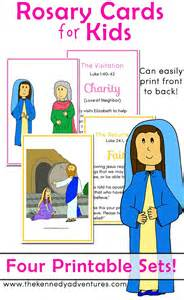 How to pray the rosary for kids printable printable rosary cards for