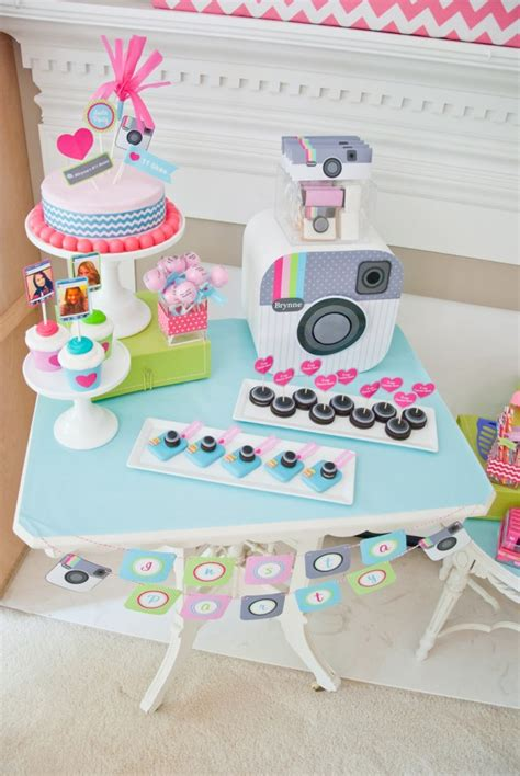 themes for teenage girl parties tween teen quot insta party quot instragram birthday party
