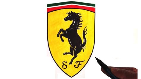 ferrari logo drawing how to draw the ferrari logo youtube