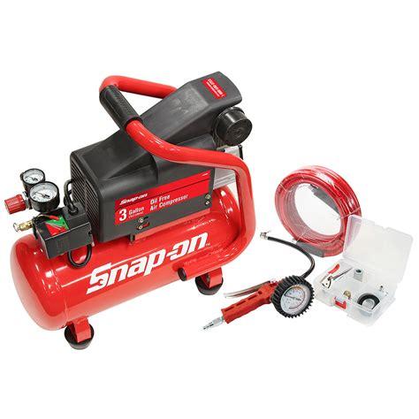 snap on 174 3 gallon heavy duty free style air compressor kit 870931 ebay