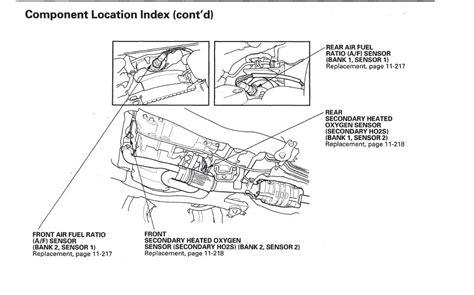 2005 honda accord oxygen sensor location 2005 v6 honda accord oxygen sensor honda tech