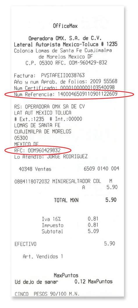 cadena comercial oxxo reimpresion de facturas facturas electr 243 nicas de elektra salinas y rocha y banco