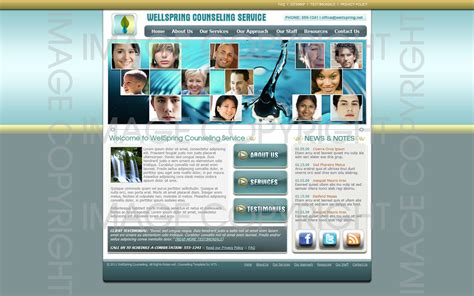 Counseling Web Template 287 Complete Counseling Therapy Website Therapy Websites Templates