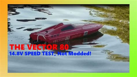 vector 80 rc boat vector 80 speed test rc boat youtube