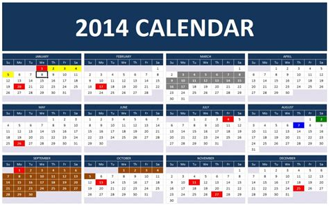 ms office calendar template 2014 2014 calendar templates microsoft and open office templates