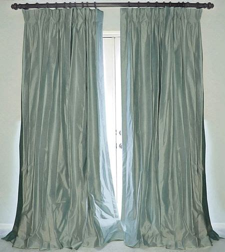 just drapes silk drapes in bluestone and the curtain just dropped