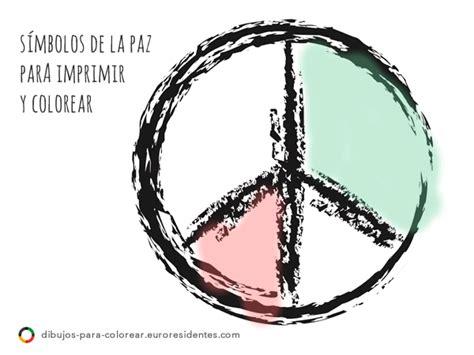 imagenes sobre simbolos de la paz dibujos d 237 a de la paz para colorear manualidades