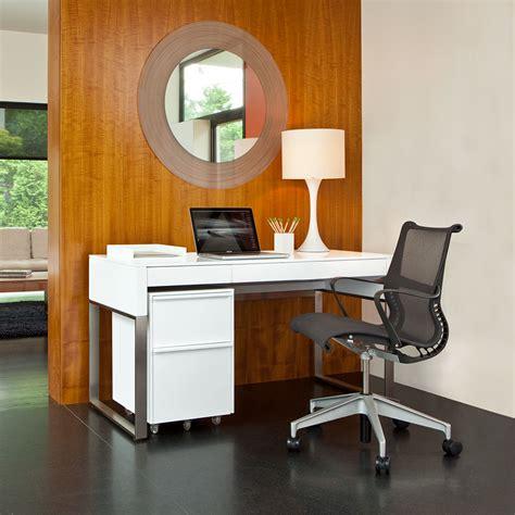 Bdi Cascadia White Modern Desk Set Eurway Furniture White Desk Set