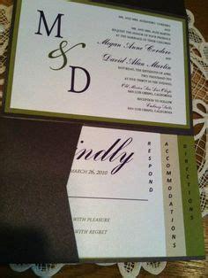 eggplant pocket wedding invitations eggplant purple pocket wedding invitations with green