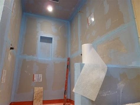 how to waterproof a bathroom before tiling how to waterproof and tile walk in tile shower diy step