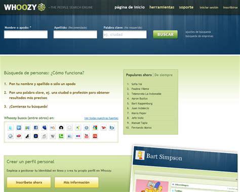 Whoozy Search Recomendacion De Sitios Web De Haberlo Sabido Antes