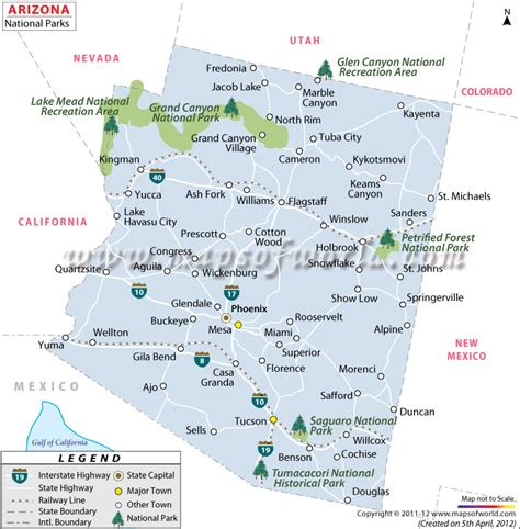 usa map with national parks arizona national parks map