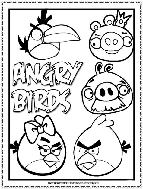 angry birds coloring pages orange bird angry birds kids coloring pages free printable kids