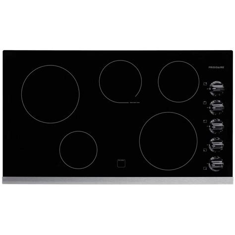 frigidaire electric cooktops frigidaire 36 in radiant electric cooktop in stainless
