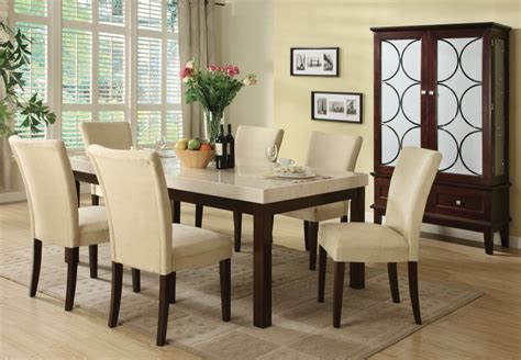 marble table dining room sets 5 pc faux marble dining table set a70495 savvy shopper