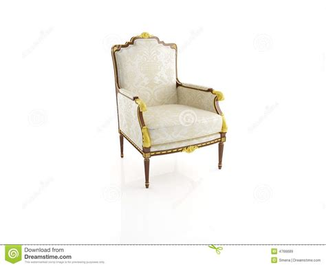 computer armchair classical armchair 3d computer rendering royalty free