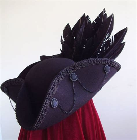 how to make a tricorn pirate hat from foam diy jack sparrow youtube gothic black raven tricorn pirate hat the hatter raven