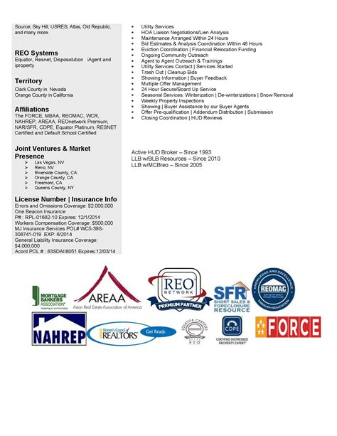 Reo Broker Cover Letter by Resume Superior Realtor Bio Resume Terrific Real Estate Resume Freight Broker Resume Gse