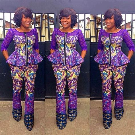 ankara trouser style ankara styles top and trouser dezango fashion zone