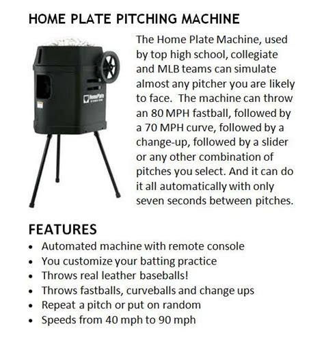 home plate pitching machine dna sports center