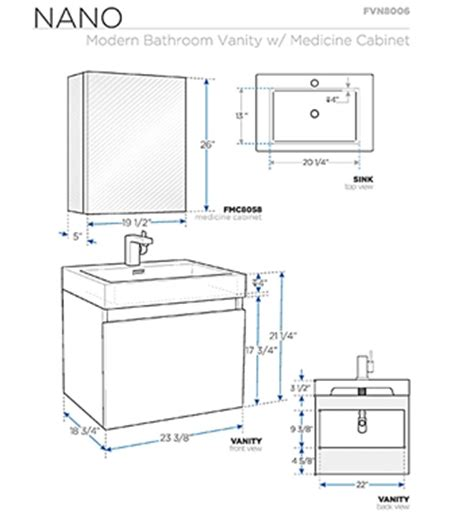 Bathroom Cabinet Sizes by Fresca Fvn8006go Nano 23 38 Inch Gray Oak Modern Bathroom