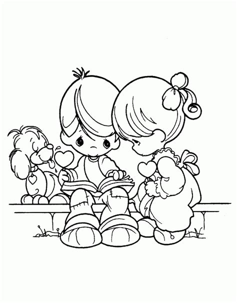 Free Printable Precious Moments Coloring Pages For Kids Printing Coloring Books