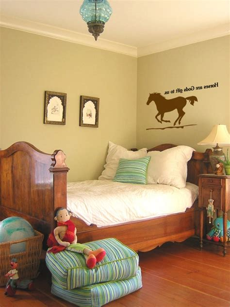 horse theme for girl s bedroom with printed horse bedding 26 equestrian themed bedrooms for horse crazy girls of all