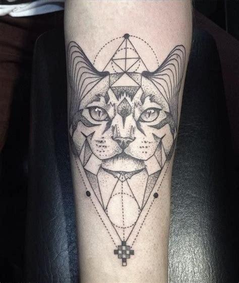 tattoo cat geometric 39 best cat theme tattoos images on pinterest cat