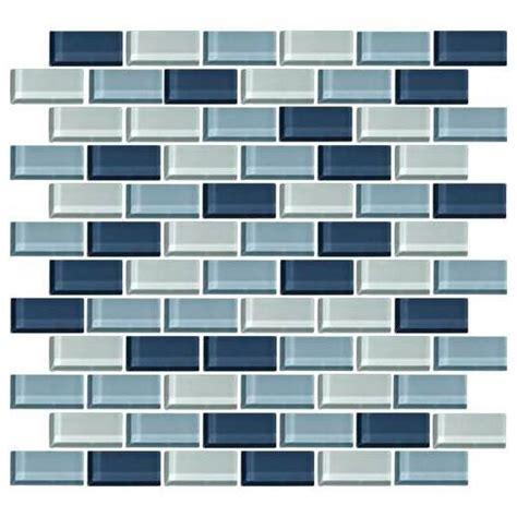 1 x 2 brick joint floor tile buy daltile color wave tile winter blues 2 x 1 brick joint