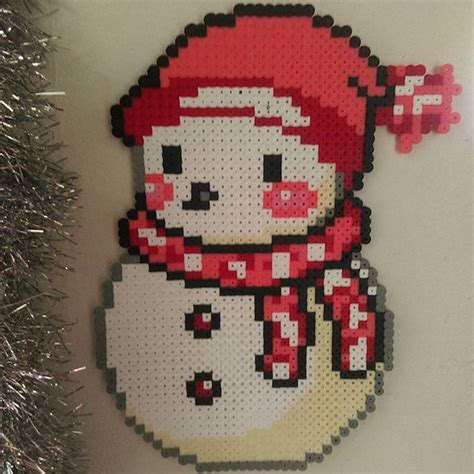 pony bead snowman 371 best images about cross stitch on perler