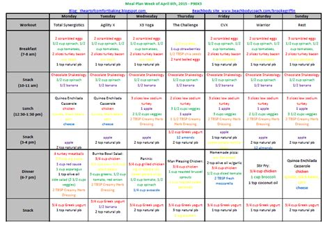 21 day fix color code the of comfort baking 21 day fix meal plan april 6 2015