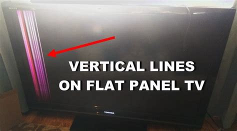 Vertical Section Of Tv by Flat Screen Tv Has Lines Going Through Screen Possible