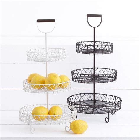 3 tier metal fruit baskets home ideas