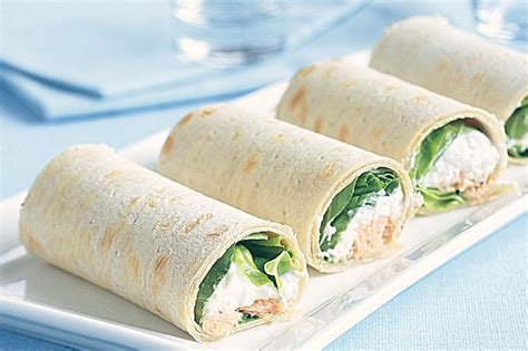 cottage cheese lunch recipes cottage cheese salmon and chive wraps recipe taste au