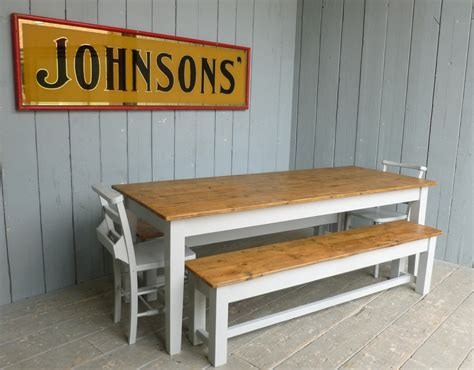 long kitchen table with bench rustic kitchen table with two long benches and white