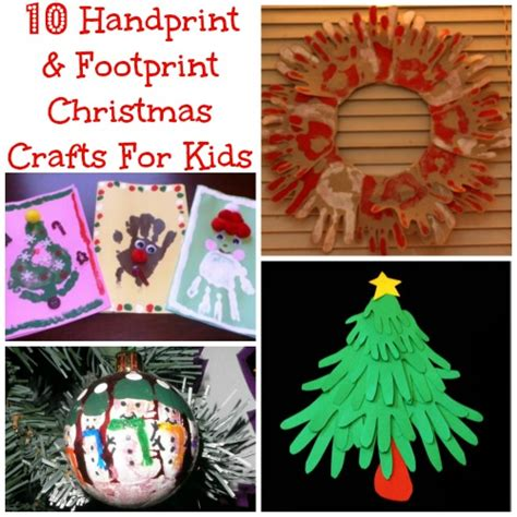 10 handprint footprint christmas crafts for kids