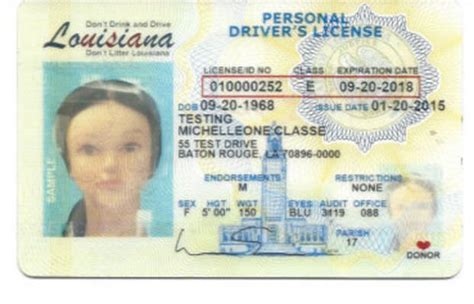 louisiana id template fresh design elements on louisiana s new driver s license