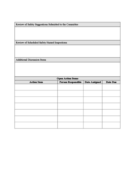 safety committee meeting minutes template free download